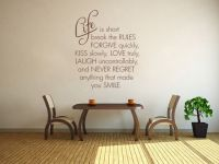 Life Is Short Break The Rules - Wall Art Quote Modern ...